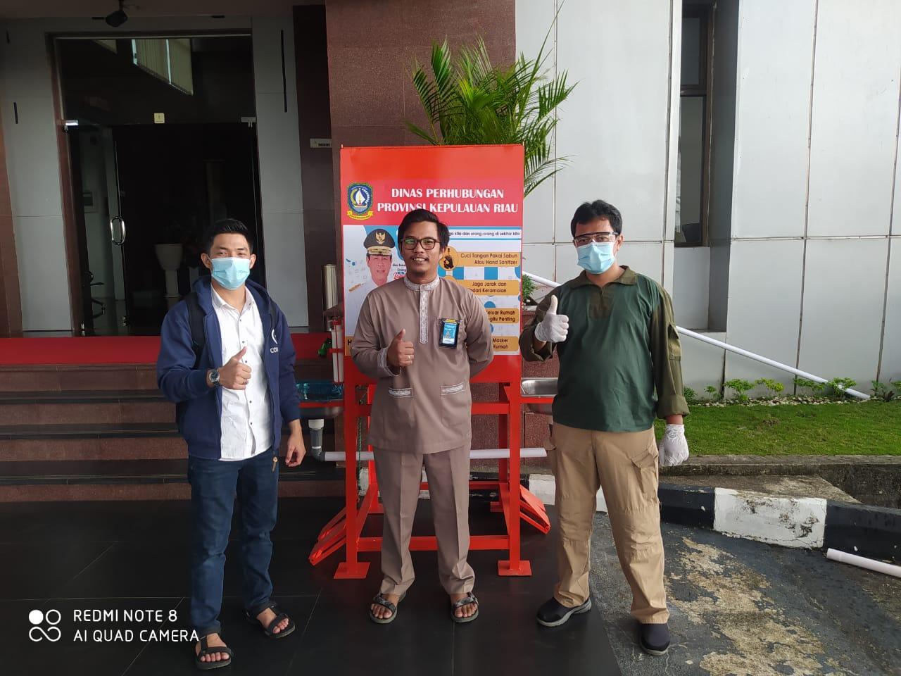 Foto Penempatan 1 Set Tempat Cuci Tangan Kapasitas 300 Liter Untuk VIP Raja Ali Haji Fisabilillah