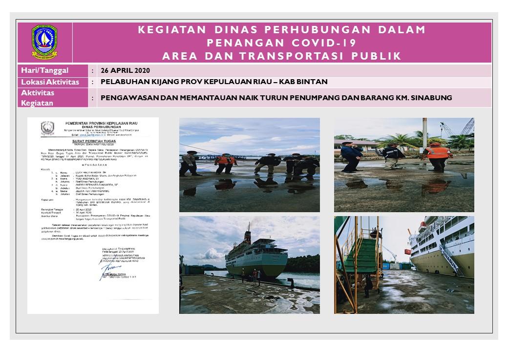 Foto Pengawasan dan Pemantauan Naik Turun  Penumpang dan Barang KM,SINABUNG
